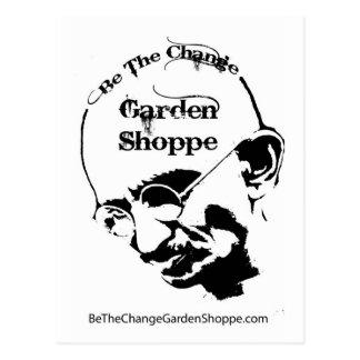 Be The Change Garden Shoppe Postcard
