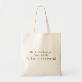 Be The Change yellow Tote Bag