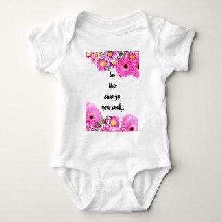 Be the change you seek baby bodysuit