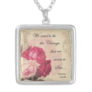 Be the Change You Want to See Silver Plated Necklace