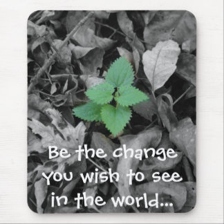 Be the change you wish to see in the world gift mouse pad