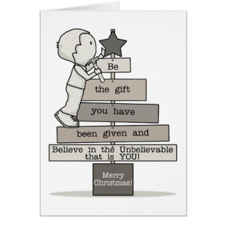 Be the Gift-Christmas Tree Card