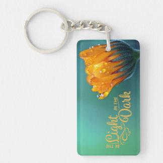 Be The Light Flower Acrylic Keychain