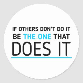 Be the one quote sticker