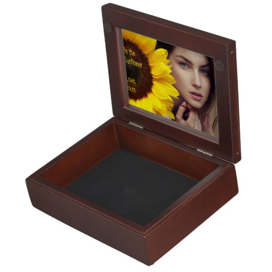 Be The Sunflower Personalized Add Your Photo Memory Box