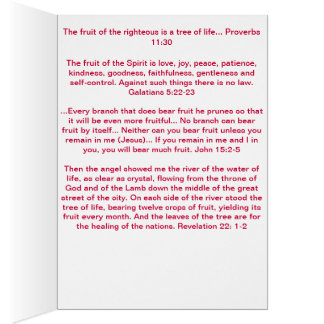 """""""Be the Tree"""" Fruits of the Spirit Greeting Card"""