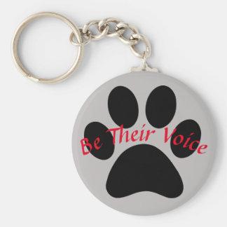 Be Their Voice Keychain