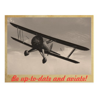 Be up-to-date and aviate! postcard
