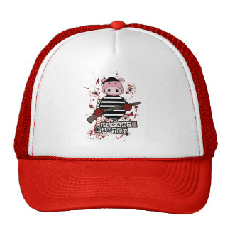 """Be Wanted""- pig Mesh Hats"