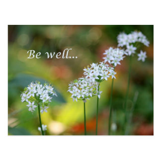 Be well postcard