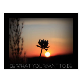 BE WHAT YOU WANT TO BE POSTCARD
