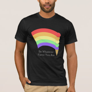 Be Whatever Flavor Rainbow Cone Personalized T-Shirt