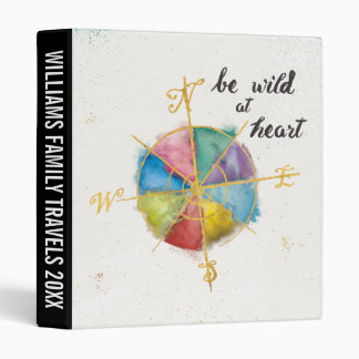 Be Wild At Heart Quote With Colorful Gilded Compas Binders