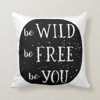 Be Wild Free You Woodland Baby Nursery Room Pillow