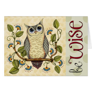 Be Wise - Card