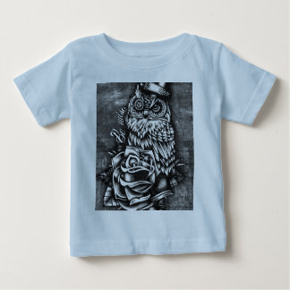 Be wise tattoo style owl artwork for baby. baby T-Shirt