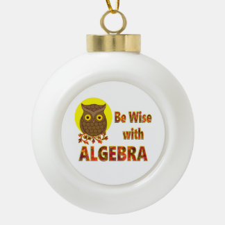 Be Wise With Algebra Ceramic Ball Ornament