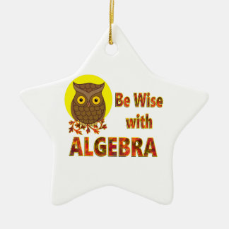 Be Wise With Algebra Ceramic Star Ornament
