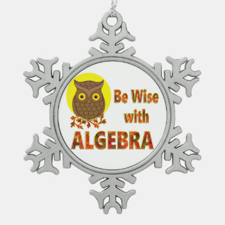 Be Wise With Algebra Pewter Snowflake Ornament