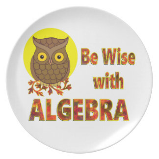 Be Wise With Algebra Plate