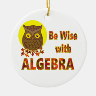 Be Wise With Algebra Round Ceramic Ornament
