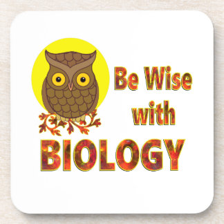 Be Wise With Biology Beverage Coaster