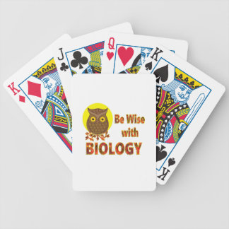 Be Wise With Biology Bicycle Playing Cards