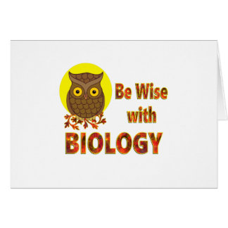 Be Wise With Biology Card