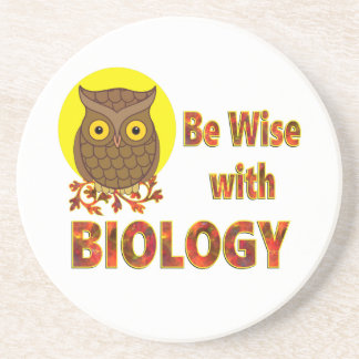Be Wise With Biology Coasters