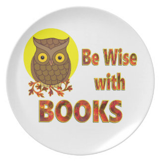 Be Wise With Books Plate