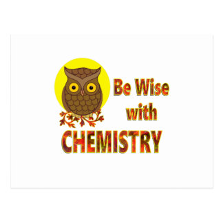 Be Wise With Chemistry Postcard