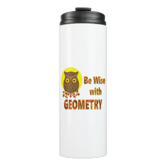 Be Wise With Geometry Thermal Tumbler