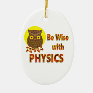 Be Wise With Physics Ceramic Oval Ornament