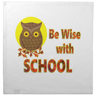 Be Wise With School Napkin