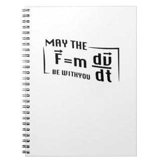 Be with You Math Physics Science Funny Gift Notebooks