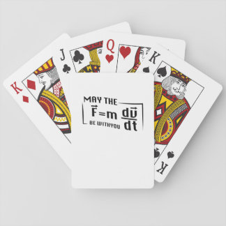 Be with You Math Physics Science Funny Gift Playing Cards