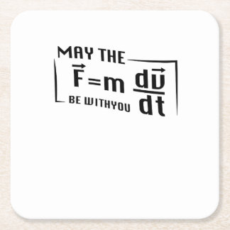 Be with You Math Physics Science Funny Gift Square Paper Coaster