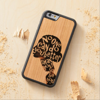 Be You - Cherry Wood Inlay Phone Case Cherry iPhone 6 Bumper
