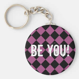 """""""Be You"""" for Teenage Girl Custom Basic Round Button Keychain"""