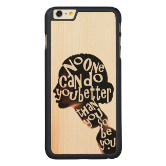 Be You - Maple Wood Inlay Phone Case
