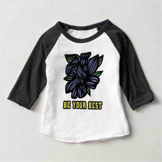 """Be Your Best"" Baby Raglan Shirt"