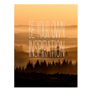 Be Your Own Inspiration Landscape Hills Sunset Postcard