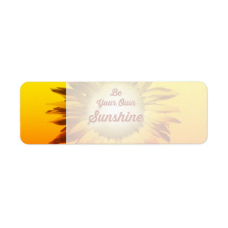 Be Your Own Sunshine Sunflower Red Yellow Ombre
