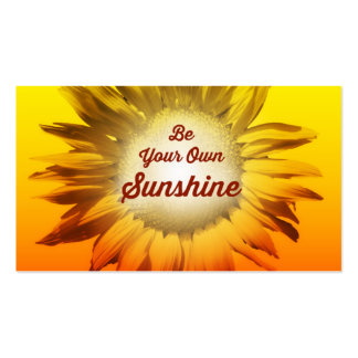 Be Your Own Sunshine Sunflower Red Yellow Ombre Pack Of Standard Business Cards