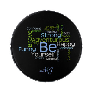 BE Yourself Inspirational Word Cloud