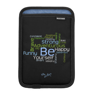 BE Yourself  Inspirational Word Cloud iPad Mini Sleeves