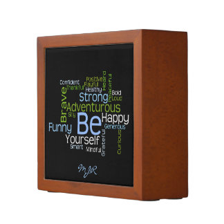 BE Yourself  Inspirational Word Cloud Pencil/Pen Holder