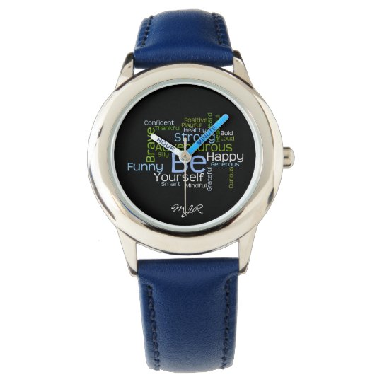 BE Yourself  Inspirational Word Cloud Watches