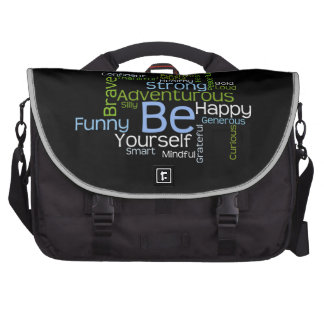 BE Yourself Inspirational Words to Motivate Bag For Laptop