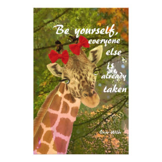 Be yourself no matter others say stationery